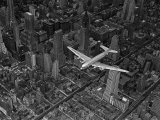 Aerial View of a DC-4 Passenger Plane Flying over Midtown Manhattan - Margaret Bourke-White