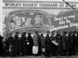 African American Flood Victims Lined Up to Get Food and Clothing From Red Cross Relief Station - Margaret Bourke-White