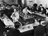 Bartender Prepares a Drink as Patrons Enjoy Themselves at Popular Speakeasy during Prohibition - Margaret Bourke-White