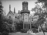 Exterior View of Gothic-Inspired House in the Hudson River Valley - Margaret Bourke-White