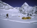 Mountaineer Approaching Camp One Everest Northside - Michael Brown