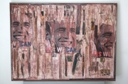 "mixte obamma art urbain collage : Spirit of wall ""yes we can"""