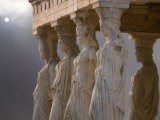 Sculptures of the Caryatid Maidens Support the Pediment of the Erecthion Temple - Nancy Noble Gardner
