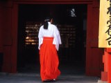 Woman Enters the Tsurugaoka Hachimangu Shrine, Kamakura, Japan - Nancy & Steve Ross