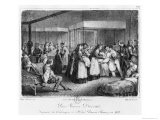 Sister Victoire Darras Tending the Cholera Victims at the Hotel-Dieu of Chauny, 1832 - Napoleon Thomas