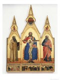 The Holy Trinity with St. Romuald and St. Andrew, 1365 - Nardo Di Cione Orcagna