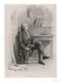 Marquis de Condorcet French Philosopher Sitting at His Desk - Nargeot