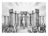 Druids Sacrificing to the Sun in Their Temple Called Stonehenge - Nathaniel Whittock
