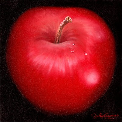 Posters affiches pomme rouge