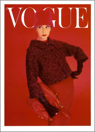 Norman Parkinson - Couverture de Vogue, rose rouge, août 1956