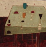 Table with Blue Cup - Oakley