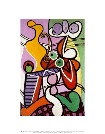Nu et nature morte 1931 pablo picasso posters - Nature morte a la chaise cannee ...