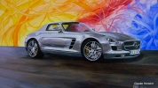 Painting - MERCEDES SLS 63 AMG