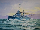 Painting - USS Fletcher