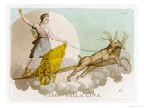 Crossing the Night Sky in Her Deer-Drawn Chariot - Palagi