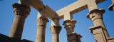 Low Angle View of the Ruins of Columns, Nefertari's Temple of Hathor, Aswan, Egypt - Panoramic Images