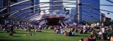 People at a Lawn, Pritzker Pavilion, Millennium Park, Chicago, Illinois, USA - Panoramic Images
