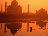 Taj Mahal and Reflection in Yamuna River - Paolo Cordelli