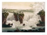 "Niagara Falls, 1818, from ""Le Costume Ancien et Moderne"", Volume I, Plate 30, 1820s-30s - Paolo Fumagalli"