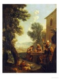 Peasants Drinking by a Farmhouse - Paolo Monaldi