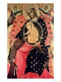 Madonna and Child Enthroned with Two Devout People - Paolo Veneziano