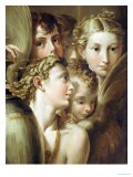 Five Angels - Parmigianino