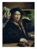 Portrait of a Gentleman Wearing a Beret - Parmigianino