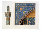 Architectural Details from the Mesdjid-I-Shah, Isfahan, Plate 12-13 from Modern Monuments of Persia - Pascal Xavier Coste