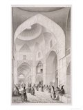 Cloth Market, in Isfahan, from Voyage Pittoresque of Persia, Engraved by Claude Sauvageot - Pascal Xavier Coste