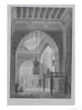 """Interior of the Mosque of Kaid-Bey, Plate 55 from """"Monuments and Buildings of Cairo"""" - Pascal Xavier Coste"""
