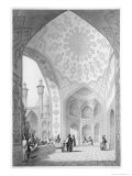Main Entrance of the Medrese-I-Shah-Hussein, Isfahan, Modern Monuments of Persia - Pascal Xavier Coste