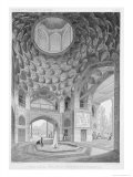 Pavilion of the Eight Paradises, in Isfahan, Voyage Pittoresque of Persia, Engraved by H.Lecoq - Pascal Xavier Coste