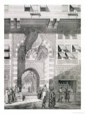 """View of the Door of Okal Kaid-Bey, from """"Monuments and Buildings of Cairo"""" - Pascal Xavier Coste"""