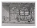 """View of the Interior of the Dervish Convent, in Cairo, from """"Monuments and Buildings of Cairo"""" - Pascal Xavier Coste"""