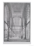 """View of the Sanctuary of the Mosque of Moyed, Plate 29 from """"Monuments and Buildings of Cairo"""" - Pascal Xavier Coste"""