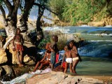 Himba Children Playing in River - Pascale Beroujon