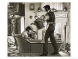 Man Being Bathed by His Valet - Pat Nicolle