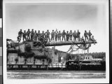Men of US Army Easily Standing on Barrel of Mammoth 274 Mm Railroad Gun During WWII - Pat W. Kohl