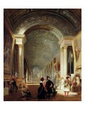 View of the Grande Galerie of the Louvre, 1841 - Patrick Allan-fraser