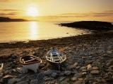 Boats on Norwick Beach at Sunrise, Unst, Shetland Islands, Scotland, United Kingdom, Europe - Patrick Dieudonne