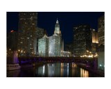 Chicago River at night - Patrick  J. Warneka
