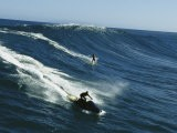 A Surfer and Jet-Skier off the North Shore of Maui Island - Patrick McFeeley