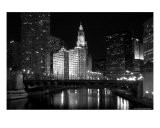 Black And White Of Chicago River - Patrick Warneka