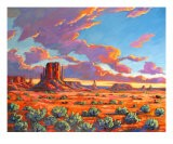 Soleil couchant à Monument Valley - Patty Baker