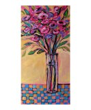 Tall Vase on Checkered Tablecloth - Patty Baker