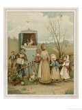 Punch and Judy Show Being Performed to a Small Audience in the Countryside - Patty Townsend
