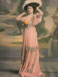 Mlle. Barelli du Theatre Rejane Wearing Pink Robe D'Apres Midi Designed by Doucet - Paul Boyer