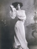 Polaire French Music Hall Entertainer in an Elegant White Dress - Paul Boyer