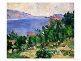 View of Mount Mareseilleveyre and the Isle of Maire, circa 1882-85 - Paul Cézanne
