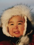 Portrait d'un enfant inuit - Paul Damien